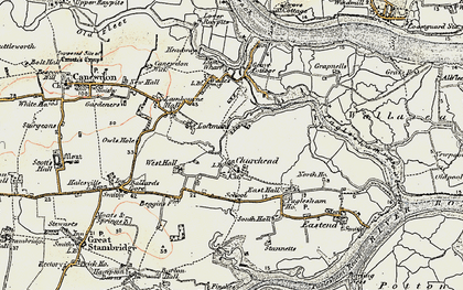 Old map of Paglesham Churchend in 1898