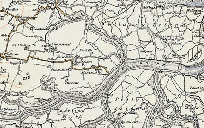 Old map of Wallasea Island in 1898