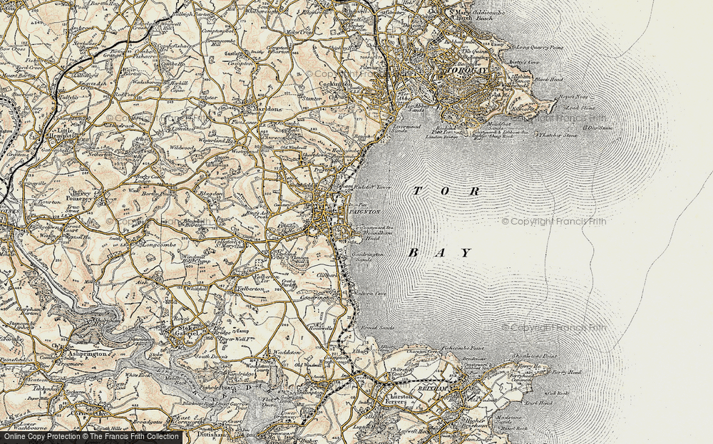 Old Map of Paignton, 1899 in 1899