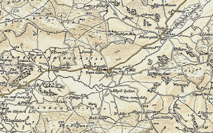 Old map of Bachawy in 1900-1902