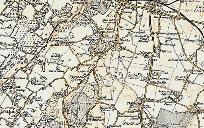 Old map of Painter's Forstal in 1897-1898