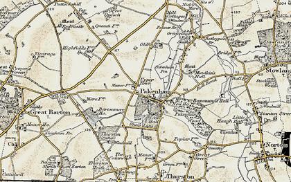 Old map of Pakenham in 1901