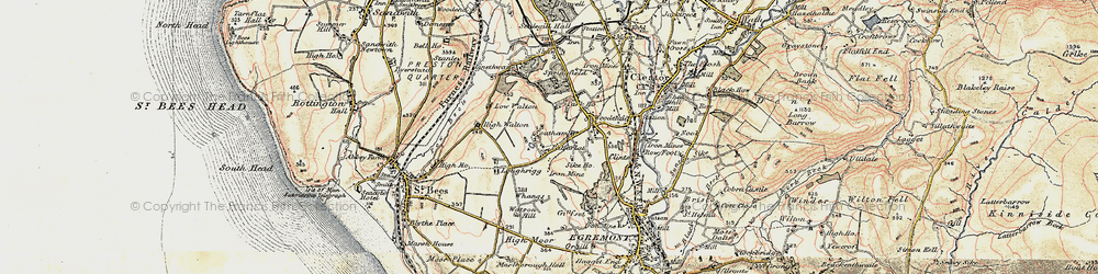 Old map of Whangs in 1903-1904