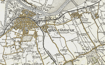 Old map of Pallister in 1903-1904