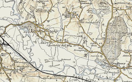 Old map of Palmer Moor in 1902