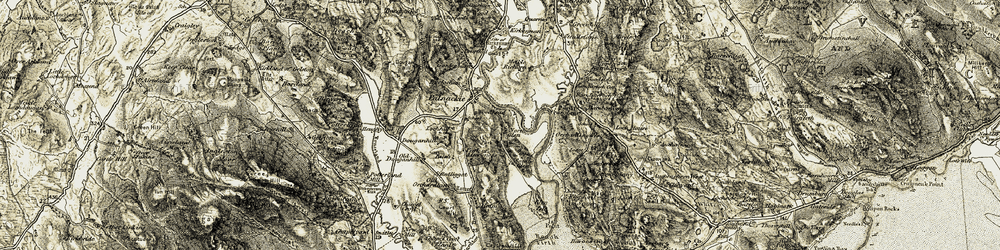 Old map of Aikeslack in 1904-1905