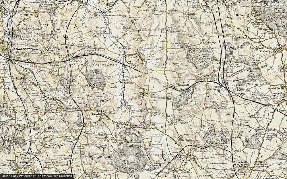 Old Map of Palterton, 1902-1903 in 1902-1903