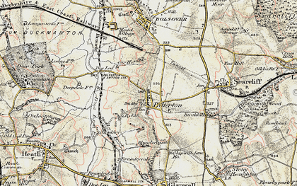 Old map of Palterton in 1902-1903
