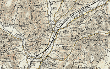 Old map of Alltyrynys in 1899-1900