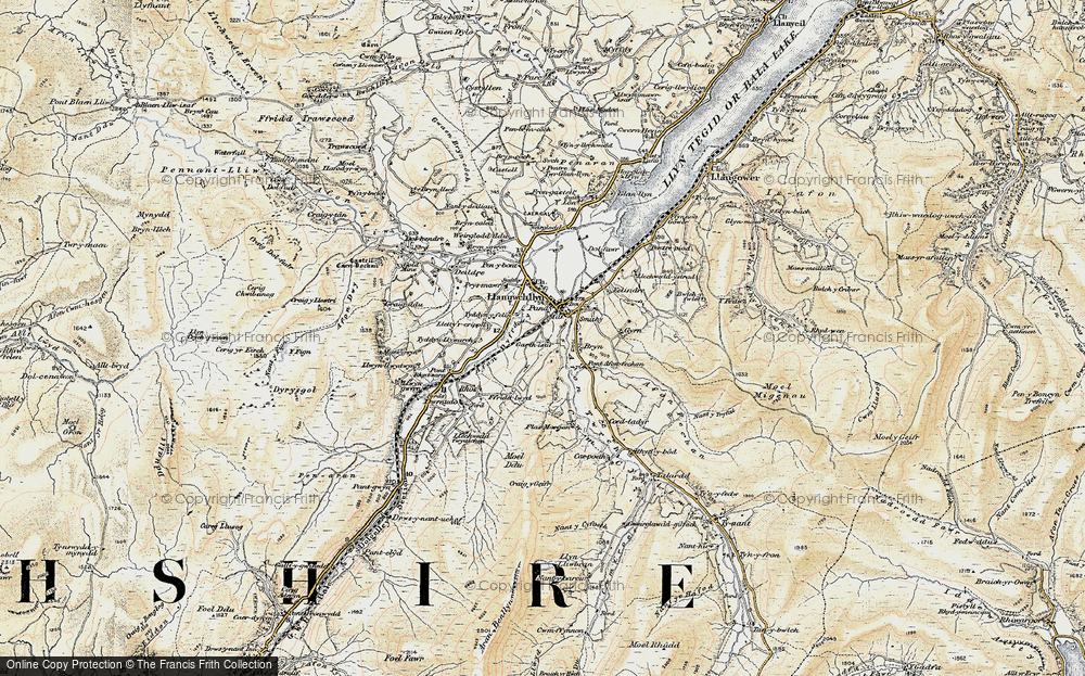 Old Map of Historic Map covering Afon Twrch in 1903