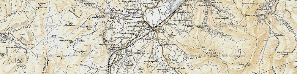 Old map of Afon Twrch in 1903