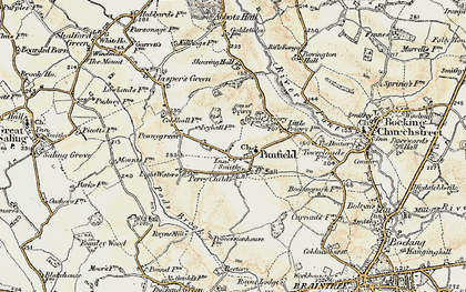 Old map of Panfield in 1898-1899