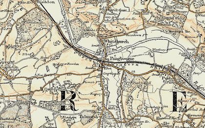 Old map of Pangbourne in 1897-1900