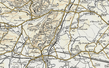 Old map of Pant in 1902-1903