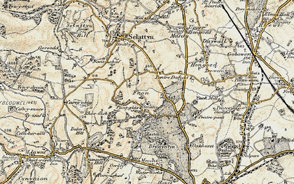 Old map of Lawr-y-pant in 1902-1903
