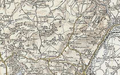 Old map of Abergelli Fm in 1900-1901