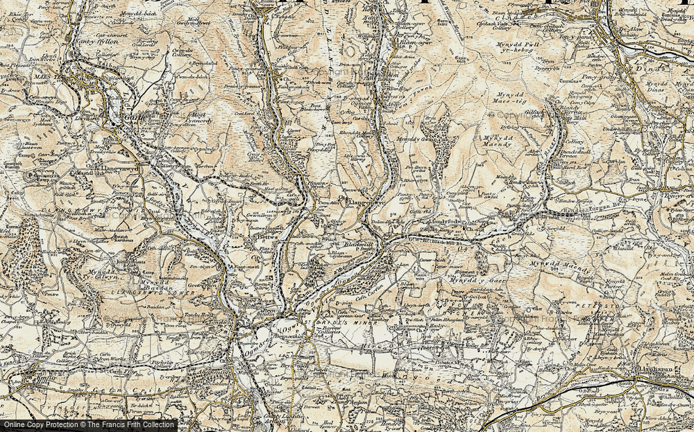 Old Map of Pant-yr-awel, 1899-1900 in 1899-1900