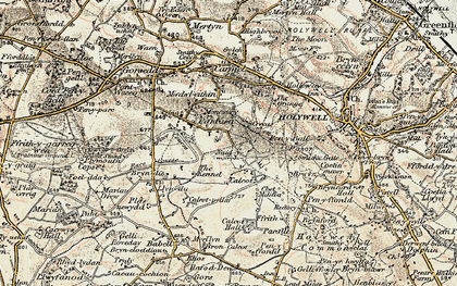 Old map of Pantasaph in 1902-1903