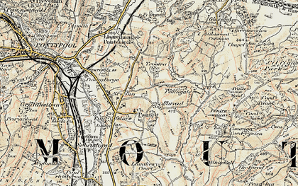 Old map of Panteg in 1899-1900