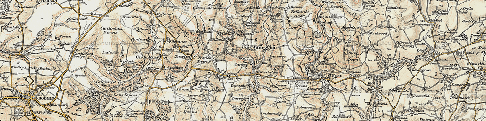 Old map of Yetta in 1900