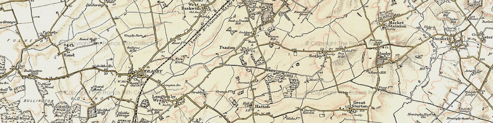 Old map of Wire Hill in 1902-1903