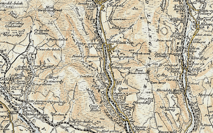 Old map of Yr Hyl in 1900