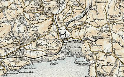 Old map of Par in 1900