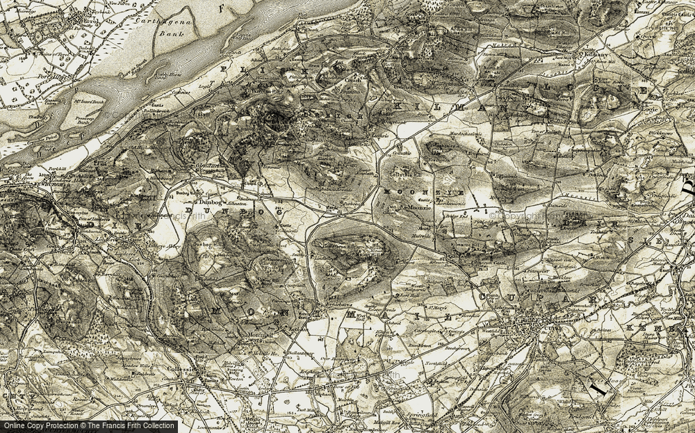 Old Map of Historic Map covering Lindifferon Hill in 1906-1908
