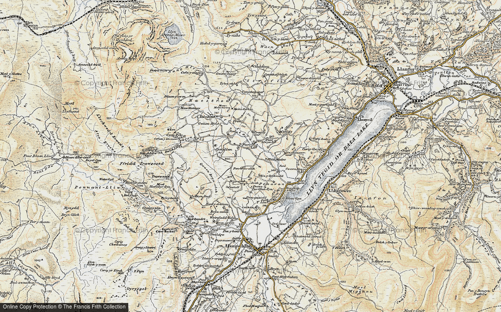 Old Map of Historic Map covering Afon Dylo in 1903