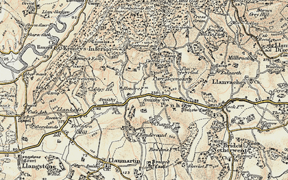 Old map of Parc-Seymour in 1899-1900