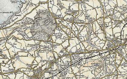 Old map of Park Bottom in 1900