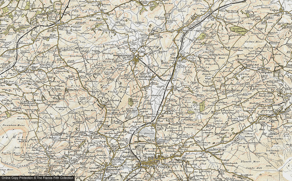 Old Map of Historic Map covering Wood End in 1903-1904