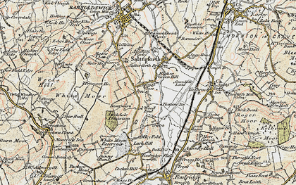 Old map of Wood End in 1903-1904