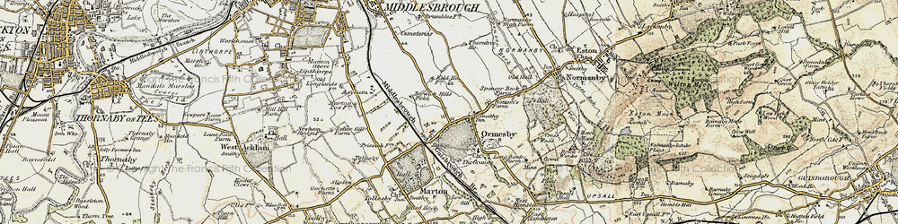 Old map of Park End in 1903-1904