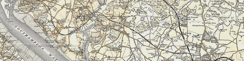 Old map of Park Gate in 1897-1899