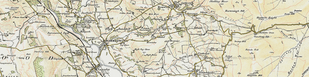 Old map of Todbank in 1901-1904