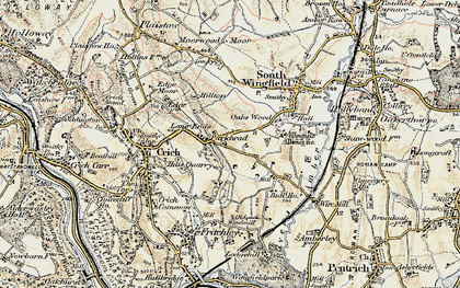 Old map of Park Head in 1902-1903
