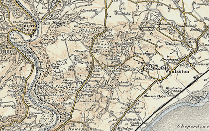 Old map of Ashwell Grove in 1899-1900
