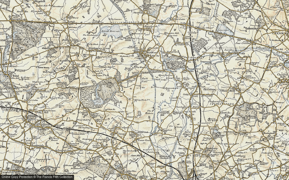 Old Map of Historic Map covering Ackbury Heath in 1902