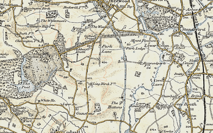 Old map of Ackbury Heath in 1902