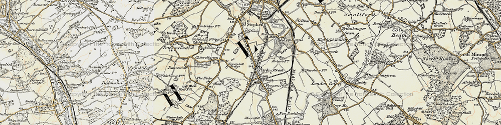 Old map of Park Street in 1897-1898