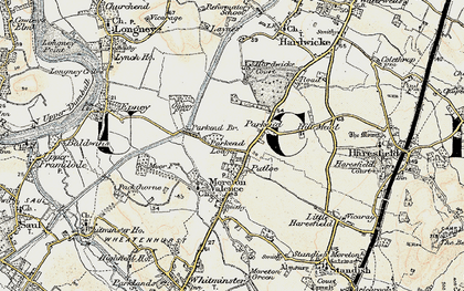 Old map of Parkend in 1898-1900