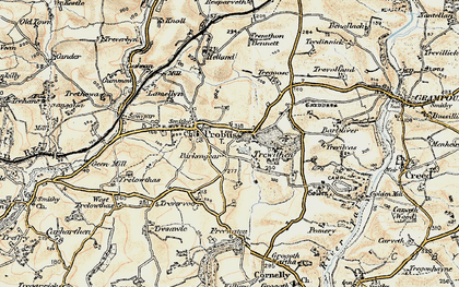 Old map of Parkengear in 1900