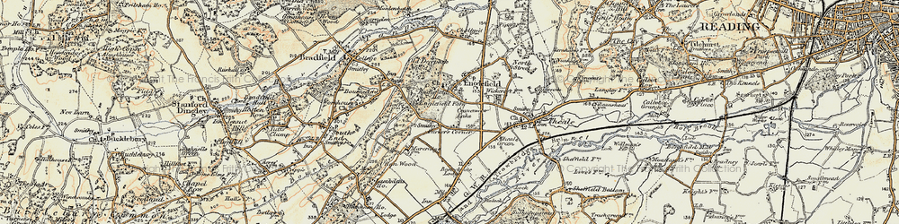 Old map of Wickcroft in 1897-1900