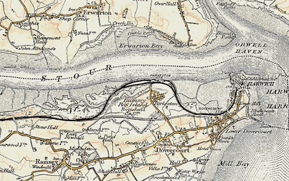 Old map of Parkeston in 1898-1899