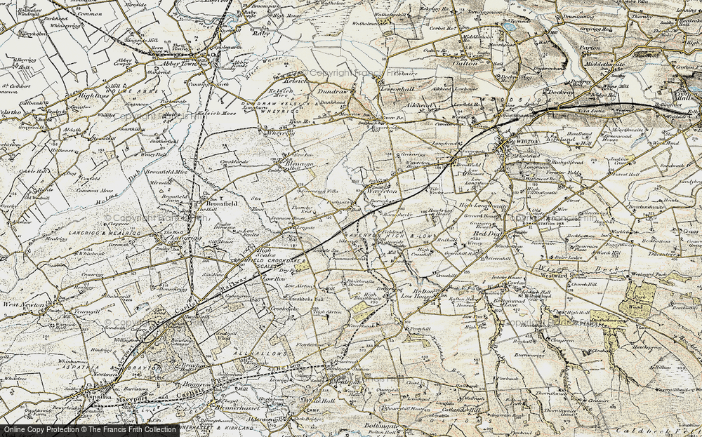 Old Map of Historic Map covering Aikbank in 1901-1904