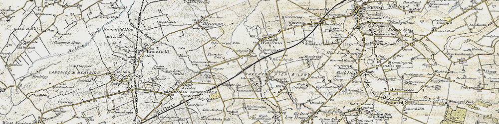 Old map of Aikbank in 1901-1904