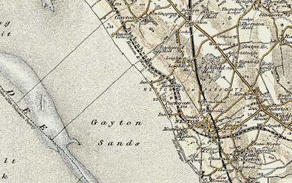 Old map of Parkgate in 1902-1903