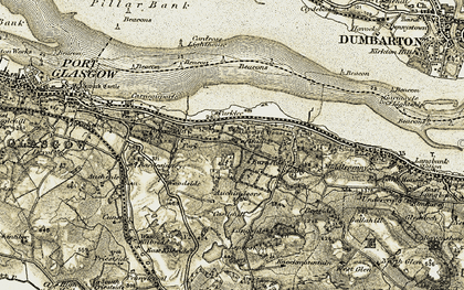 Old map of Auchendores Cotts in 1905-1906