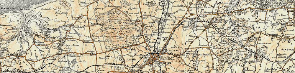 Old map of Albany Prison in 1899